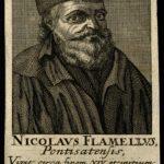 V0001935 Nicolas Flamel. Line engraving.